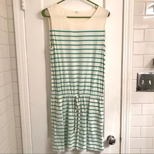 JCrew Blue and White Striped Dress